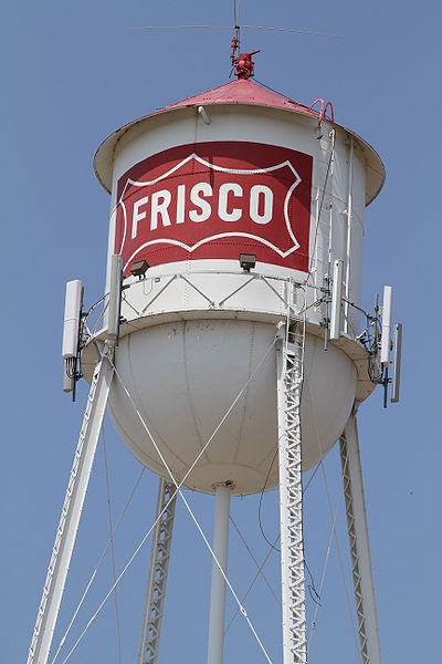 water tower near homes for sale in Frisco, TX
